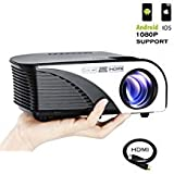 Varmax LED Home Projector Mini Compatible with Chromecast Fire Stick iPhone& Android Support HD...