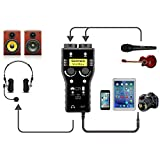 Lightning Microphone Preamp Compatible with iPhone 11 X 8 7 6 Vlog, Saramonic 2-Channel Lightning...