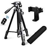"Torjim 60"" Camera Tripod with Carry Bag, Lightweight Travel Aluminum Professional Tripod Stand..."