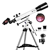 Telescopes for Adults, 70mm Aperture and 700mm Focal Length Professional Astronomy Refractor...