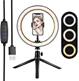 10' Ring Light, with Phone Holder Selfie Ring Light, 3 Lighting Modes and 10 Brightness Levels, for...
