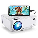 Mini Projector, TOPVISION 5500L Outdoor Movie Projector, Full HD 1080P Supported Portable Video...