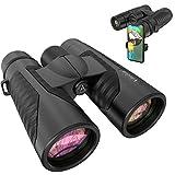 12x42 HD Binoculars for Adults with Universal Phone Adapter - High Power Binocularswith Super...