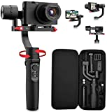 All in 1 3-Axis Gimbal Stabilizer for Compact Camera Action Camera and Smartphone, Compatible with...