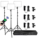 (3 Packs) VILTROX vl-200 Light 30W Bi-Color 3300K-5600K Studio Lights Kit with Stand,CRI 95+ Wide...