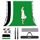 EMART Photo Video Studio Backdrop Stand Kit, 8.5x10ft Adjustable Photography Green Screen Support...