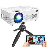 [WiFi Projector] QKK Upgraded 6500Lumens Projector, Full HD 1080P Supported Mini Projector [Tripod...
