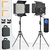 Switti LED Video Light, 2-Pack Dimmable Bi-Color Photography Lights, Studio Lighting Kit for YouTube...