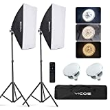 YICOE Softbox Lighting Kit Photography Photo Studio Equipment Continuous Lighting System with 85W...