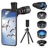 Selvim Phone Camera Lens Phone Lens Kit 4 in 1, 22X Telephoto Lens, 235° Fisheye Lens, 0.62X Wide...
