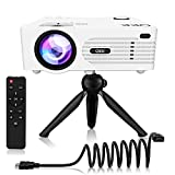 QKK 2021 Upgraded Mini Projector, Full HD 1080P & 200' Display Supported, Portable Movie Projector...