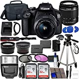 Canon EOS 2000D (Rebel T7) DSLR Camera with EF-S 18-55mm f/3.5-5.6 DC III Lens & Accessory Bundle...