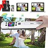 Portable Scanner Hollee WiFi Photo Scanner 300/600/1050 DPI Resolution Rechargeable Document Scanner...