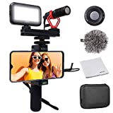 Movo Smartphone Video Kit V1 Vlogging Kit with Grip Rig, Shotgun Microphone, LED Light and Wireless...