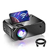 BOMAKER WiFi Mini Projector, Outdoor Movie Projector Native 1280x720P and 200 Inch Picture, 1080P...