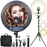 "Ring Light Kit 18 Inch, Selfie Ring Light with 73"" Tripod Stand & Phone Holder, 55W 3200K-6000K..."