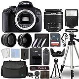 Canon EOS 2000D / Rebel T7 Digital SLR Camera Body w/Canon EF-S 18-55mm f/3.5-5.6 Lens 3 Lens DSLR...