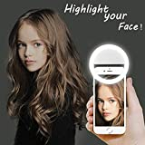 LST Selfie Ring Lighting Rechargeable 38 LED Dimmable Clip Light Portable Laptop Camera Photography...