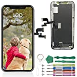 """Adorabae iPhone X Screen Replacement 5.8"""" inch LCD OLED Pre-Installed Small Part Ear Mesh Camera &..."""
