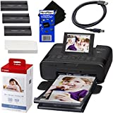 Canon SELPHY CP1300 Wireless Compact Photo Printer (Black) + Canon KP-108IN Color Ink Paper Set...