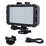 Suptig Underwater Lights Dive Light 84 LED High Power Dimmable Waterproof LED Video Light Waterproof...