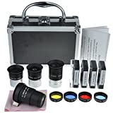 Gosky Astronomical Telescope Accessory Kit - with Telescope Plossl Eyepieces Set, Filter Set, 2X...