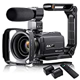 4K Video Camera Camcorder with Microphone, VAFOTON 48MP Vlogging Camera for YouTube 16X Zoom 3.0'...