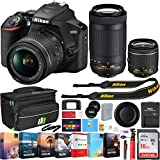 Nikon D3500 24.2MP DSLR Camera w/AF-P 18-55mm VR Lens & 70-300mm Dual Zoom Lens - (Renewed) + 16GB...