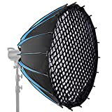 Neewer 47-inch/120CM Hexadecagon Parabolic Softbox with Grid and Carrying Bag, Portable Softbox for...