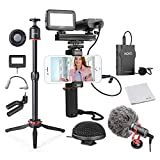 Movo Huge Smartphone Video Kit V8 with Mini Tripod, Grip Rig, Wireless Shotgun Mini and 360° Stereo...