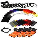 K&F Concept 40 in 1 Square Filter Kit Graduated Full Color ND Filter Set Compatible with Cokin P...