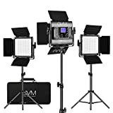 GVM RGB LED Video Lighting Kit, 800D Studio Video Lights with APP Control, Video Lighting Kit for...