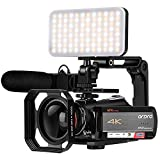 Camcorder 4K Video Camera, ORDRO AC5 UHD Camcorder with 12x Optical Zoom 3.1'IPS Touchscreen HD...
