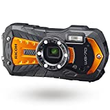 RICOH WG-70 Orange Waterproof Digital Camera 16MP High resolution images Waterproof 14m Shockproof...