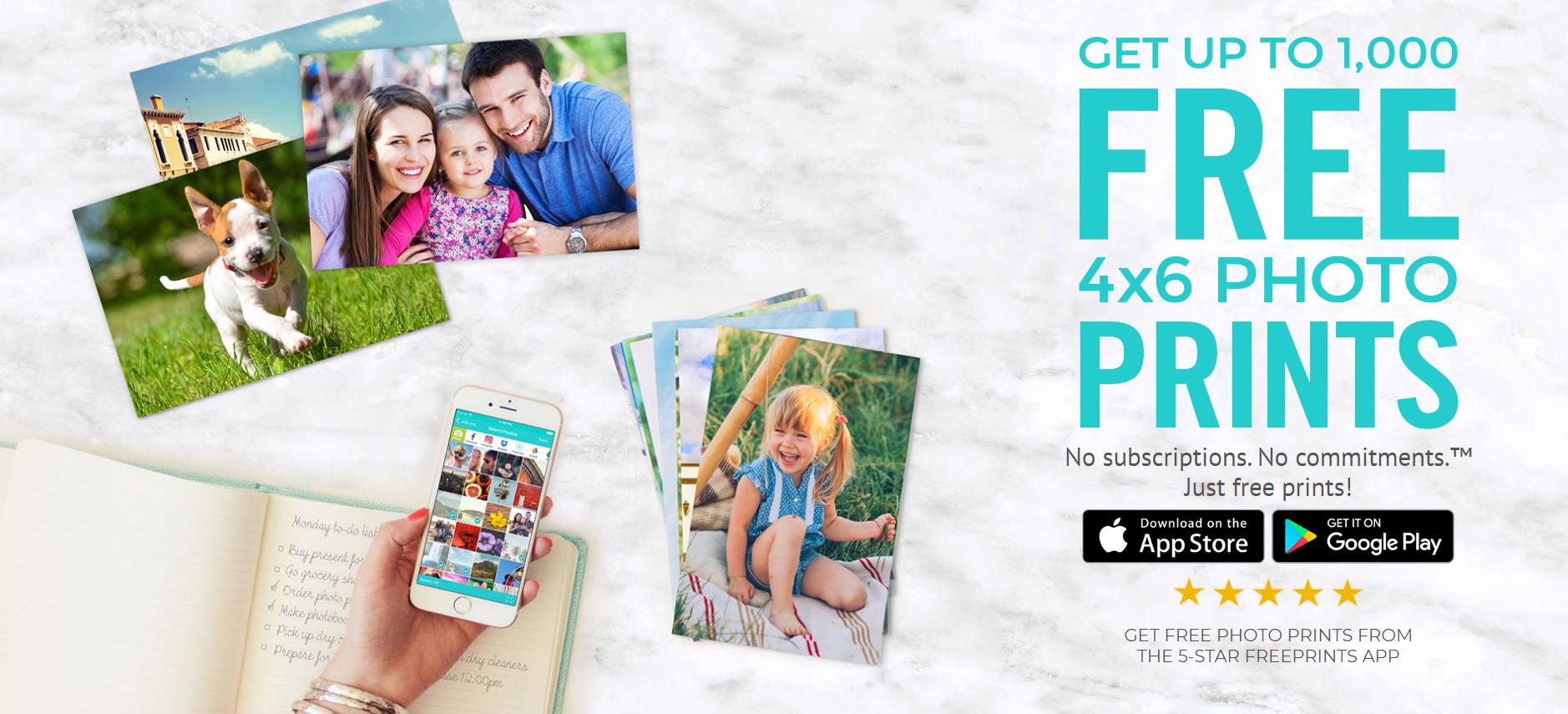 Freeprints website. - print 4x6 photos from iPhone