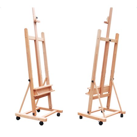 easels with wheels. - photograph artwork with iPhone