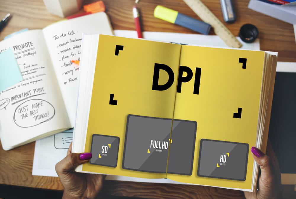 DPI on printed book