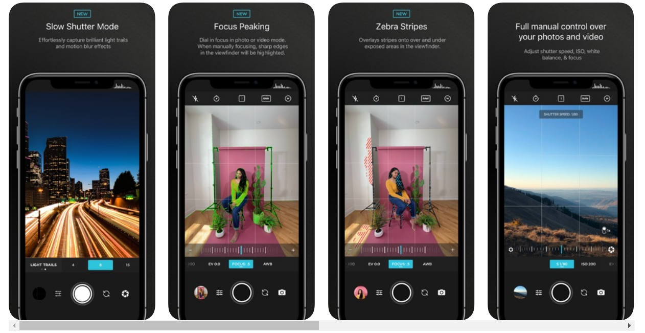 view of Moment app on the iPhone