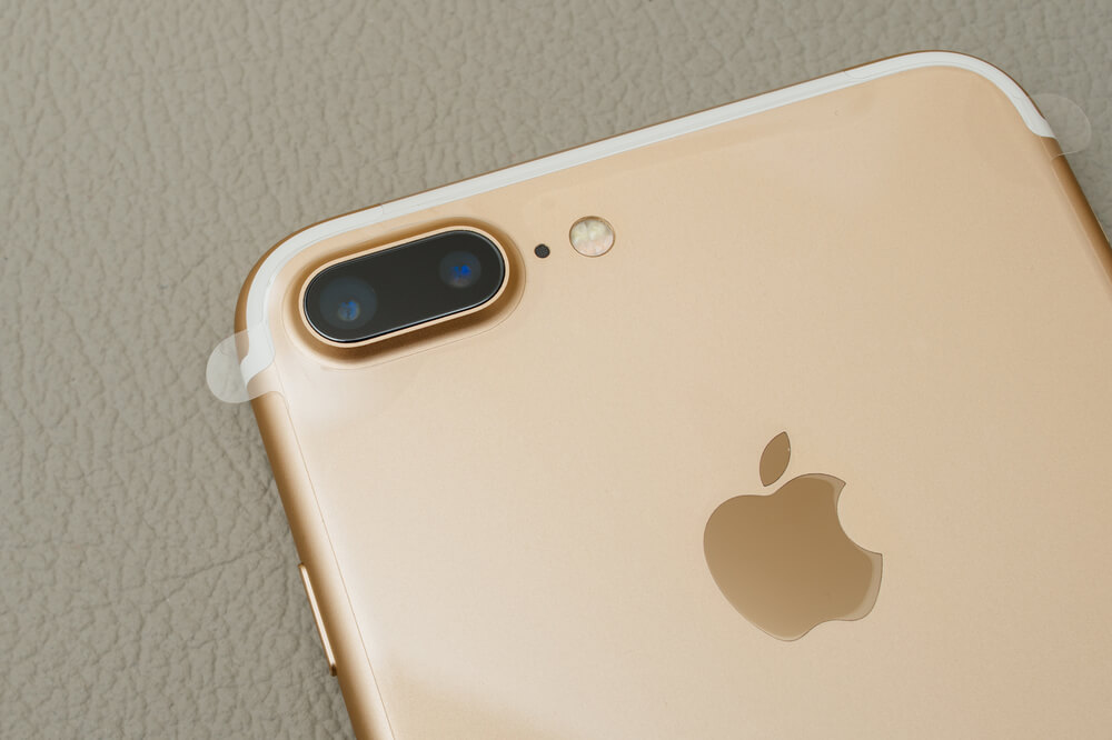 Rose Gold iPhone 7 Plus.  - iPhones optical zoom