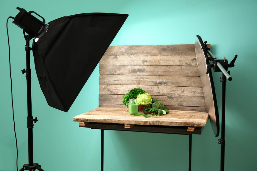 vegetables photographed in a studio.
