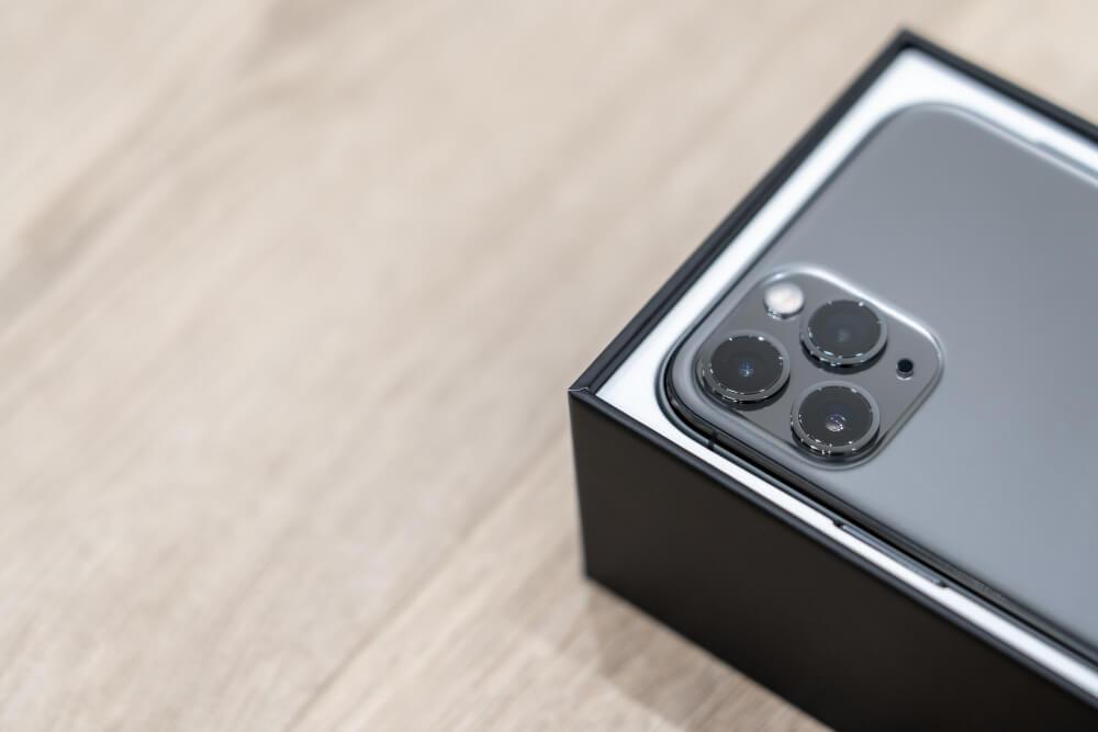 Black iPhone 11 Pro Max.