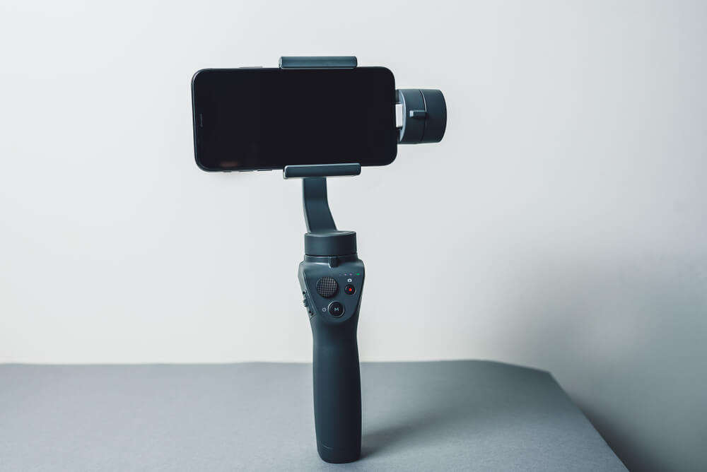 iPhone mounted on a stick - photograph artwork with iPhone
