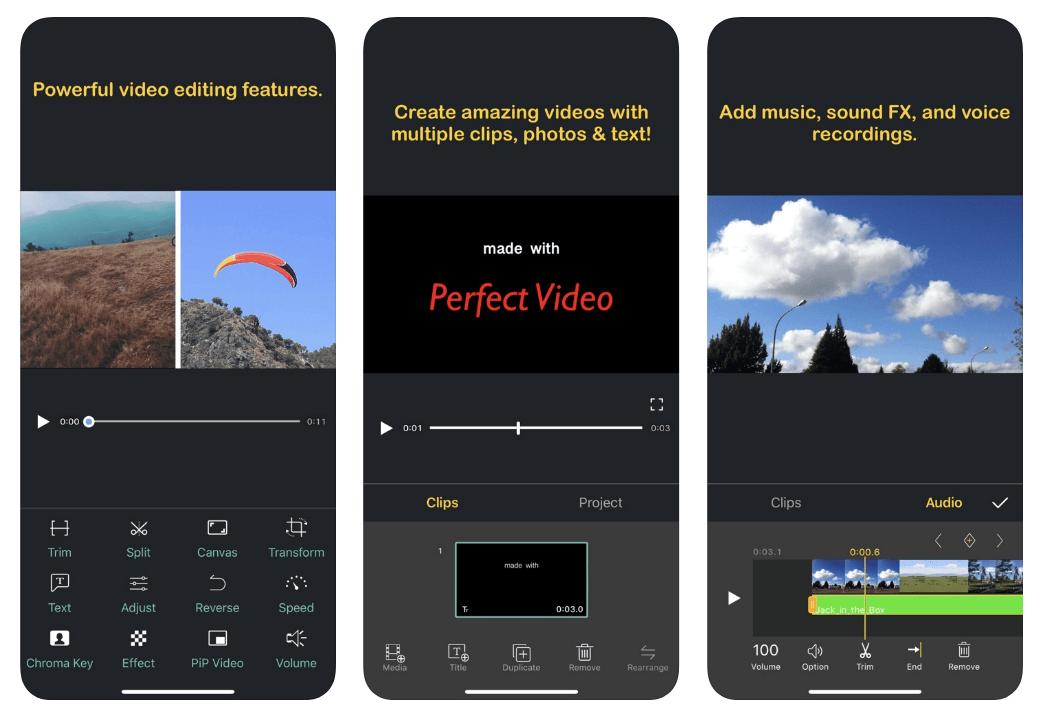 Perfect video editor app.