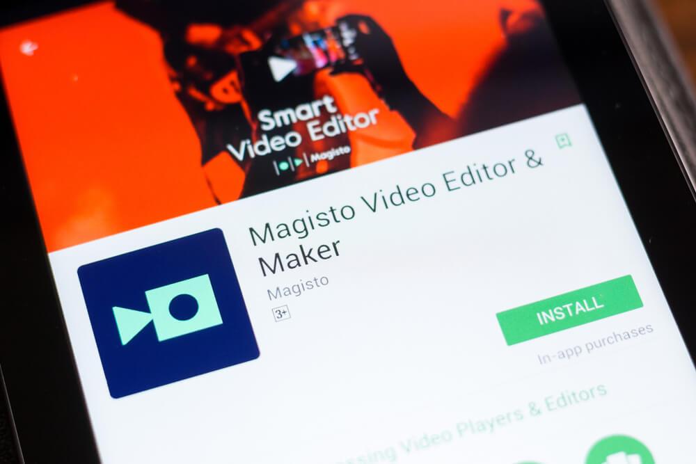 Magisto video editor app.