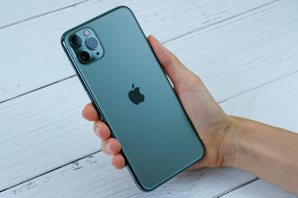iPhone 11 Pro Max in space grey.
