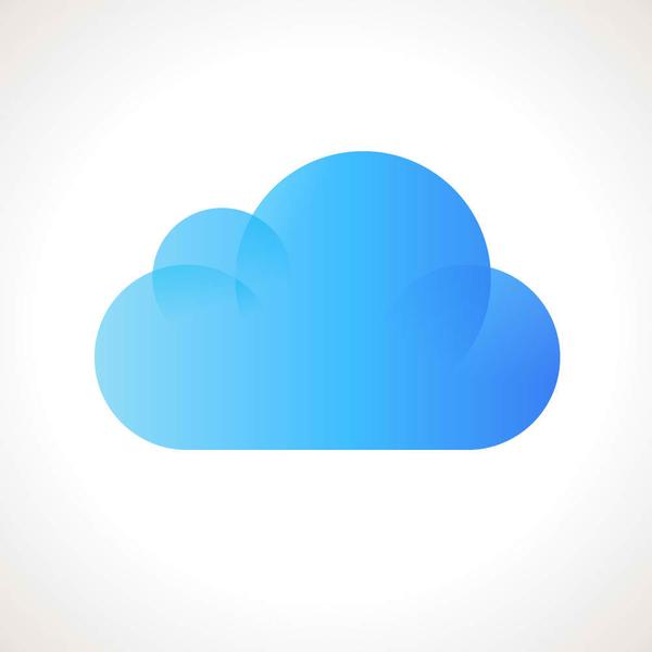 Vector cloud computing icon.