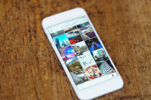 Photo Gallery on a white smartphone display.