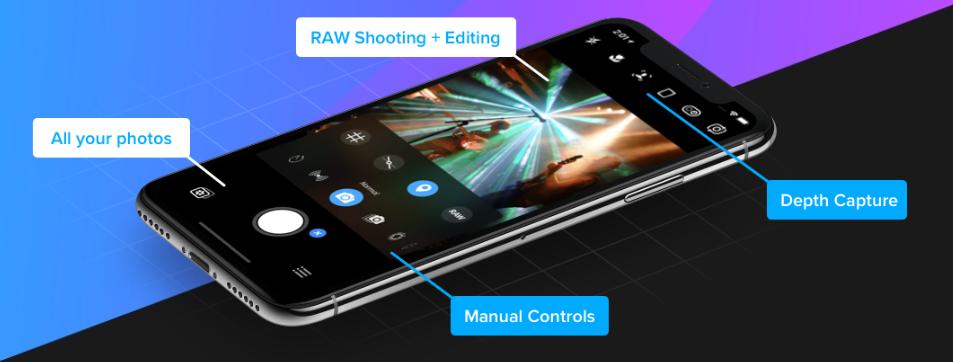 The Camera+ app interface