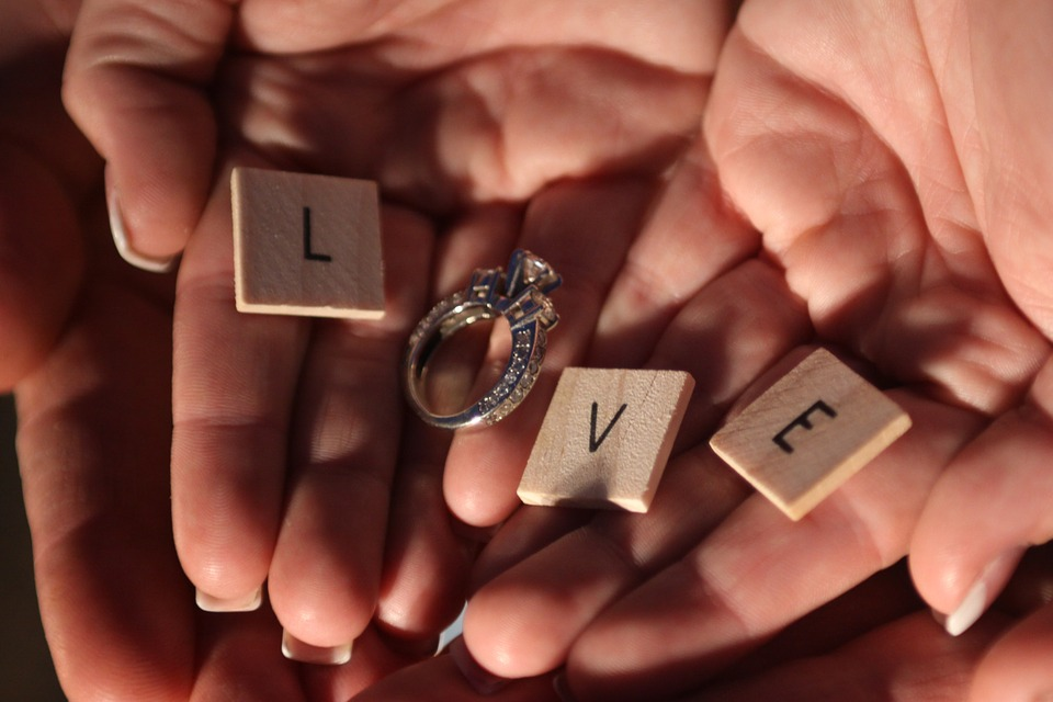 Ring on a hand of lovers