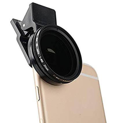 Clip-on UV filter for iPhone